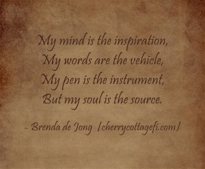 My mind is the inspirtation...
